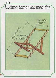 Planos para hacer reposeras de madera con lona - Buscar con Google