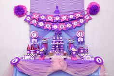 Pink and purple princess party! See more party ideas at CatchMyParty.com!  #partyideas #princess