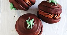Create decadent choc-mint ganache to add the final touches to these beautiful whoopie pies.