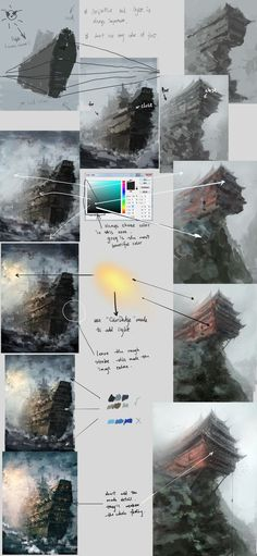 steps by wlop.deviantart.com on @deviantART - Tutorial for painting in Photoshop