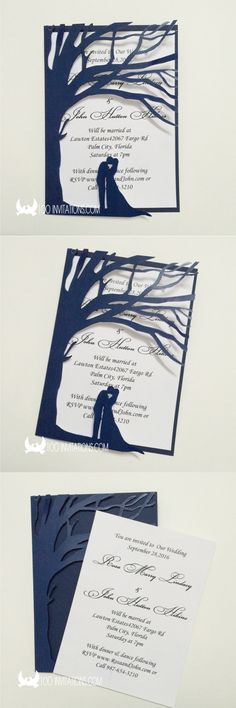 Tree Wedding Invitations Laser Cut Tree Wedding Invitations