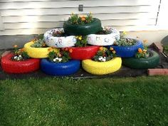 Used Tire Planters | Tire Planters | WBNG-TV: News, Sports and Weather Binghamton, New York ...