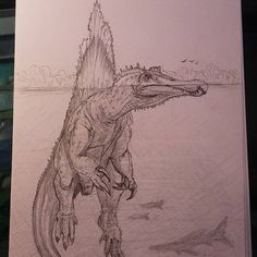 Animal Sketches, Animal Drawings, Art Sketches, Dinosaur Drawing, Dinosaur Art, Mythical Creatures Art, Prehistoric Creatures, Dinosaur Sketch, The Animals