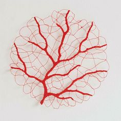 Embroidery art often seeks to mimic nature, but Australian visual artist Meredith Woolnough has a special technique we've never seen before. By using water-soluble fabric, her beautiful embroidery,. Free Motion Embroidery, Paper Embroidery, Machine Embroidery, Embroidery Designs, Nemo Y Dory, Water Soluble Fabric, Thread Painting, Thread Art, Pin Art