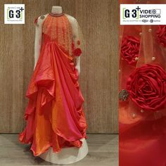 Designer Gowns for Girls. Buy online children's gowns dresses & frocks at best price for 1 to 16 years girls. Shop girls designer gowns for Wedding, Birthday, Party & Festival wear. Indian Wedding Gowns, Indian Gowns, Frock Design, Designer Gowns, Indian Designer Wear, Indian Designers, Fashion Designers, Gowns For Girls, Girls Dresses