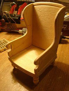 Отложила строительство дома и сделала кресло, которое будет стоять около камина.   I defered the house construction and made a chair that ...