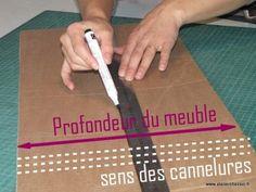 Technique : Découpe des traverses - Créer ses meubles en carton Cardboard Art, Cardboard Furniture, Diy Rangement, Afin, Images, Organize, Patterns, Awesome Things, Honey