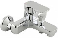 Vado Phase Exposed Bath Shower Mixer Single Lever Wall Mounted Without Shower Kit - chrome Bath Shower Mixer Taps, Bath Taps, Shower Kits, Bathroom Hooks, Wall Mount, Chrome