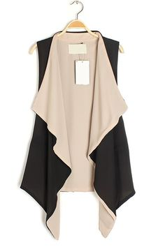 Draped open front vests/sweaters give the illusion of smaller hips and a smaller waist. This is super flattering with a long sleeved fitted shirt and skinnies.