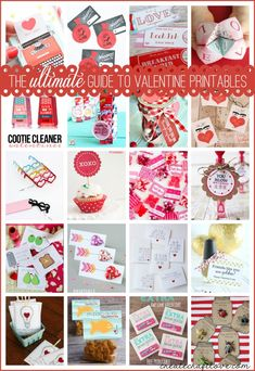 The ULTIMATE Guide to Valentine Printables.