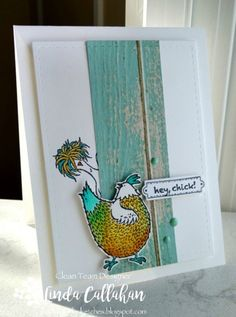 Sometimes you just have to create a card that makes you smile! Amy's great sketch was perfect for showcasing the chicks f...