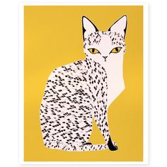 The Yellow Cat Illustration - Stacie Bloomfield, Gingiber