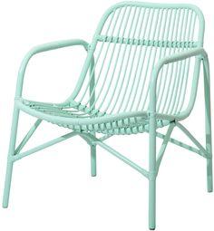 Cane Lounge Chair Mint - Rice - RumAttÄlska.se