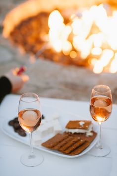 Wine and S'mores on a California road trip at the Farmhouse Inn! We did this! What a luxury travel experience in California.