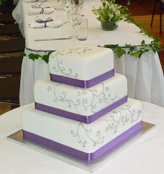 Purple Wedding Cakes | Purple and Silver Wedding Cake | Flickr - Photo Sharing!