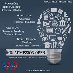 The best #faculty, modern learning techniques and the guarantee of #results only with VD Academics . Admissions open: http://www.vdacademics.com/ #vdacademics