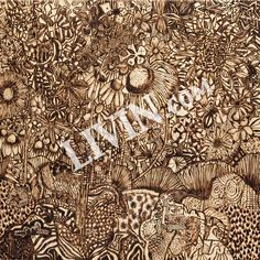 """Wood-burnt LIVIN"". LIVIN® mixed media artwork. Available in gallery quality (high-resolution) prints and canvas wraps."