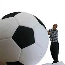 Image result for how to make big round styrofoam Ball Chair, Soccer Ball, Big, How To Make, Image, Futbol, European Soccer, Football