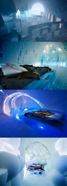 Ice Hotel, Sweden Top Luxurious & Secluded Hotels Around The World - Officially on my bucket list!!!!!