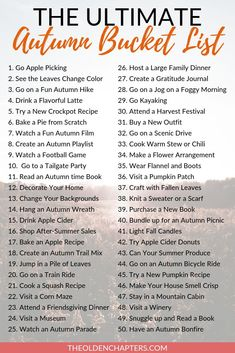 This ultimate fall bucket list is perfect for couples, teens, kids, women, families, friends, adults, college students, and more. Packed with awesome ideas including romantic date nights, DIYs, cute crafts, travel, Thanksgiving traditions, and more. Use the free printable as an easy template to create your perfect autumn bucket list today. Pin now and check out this amazing fall things to do list now. #fall #autumn #fallbucketlist Herbst Bucket List, Fall Checklist, Fun Fall Activities, Family Activities, Fall Dates, Apple Cider Donuts, Thanksgiving Traditions, Fall Candles, Things To Do
