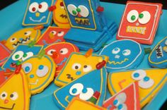 Robot Birthday!  Kids loved them.