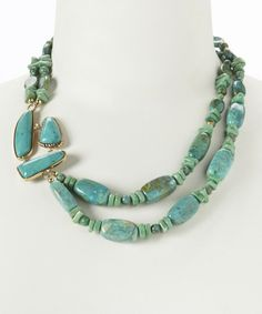 Turquoise & Bronze Beaded Necklace