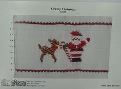 Lickety Christmas, Smocking Plate by Ellen McCarn