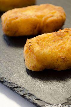 Croquetas de pollo y huevo - Receta paso a paso - Recetas paso a paso con fotos - Cocina Con Poco
