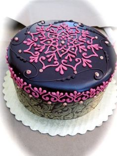Indian Weddings Inspirations from @HennaLounge . Henna Wedding Cake. Repinned by #indianweddingsmag indianweddingsmag.com #weddingcake