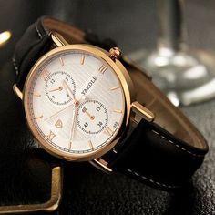 Relogio Masculino 2017 Mens Watches Top Brand Luxury Wristwatch Male Clock Men Wrist watch men leather Business Quartz watch