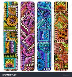 Illustration about Abstract vector hand drawn ethnic pattern card set. Series of image Template frame design for card. Illustration of hippie, indian, maya - 68580012 Arte Tribal, Tribal Art, Geometric Art, Mandala Art, Mandala Design, African Art Paintings, Pattern Wallpaper, Aztec Wallpaper, Pink Wallpaper