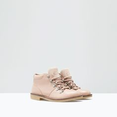 Image 2 of LEATHER MOUNTAIN BOOT from Zara