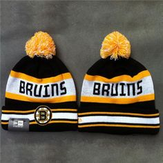 f50da192e67 Now you can look like the Boston Bruins players on game day with this knit  Hat. This is an absolute must-have for any Hockey fan s head wear  collection.