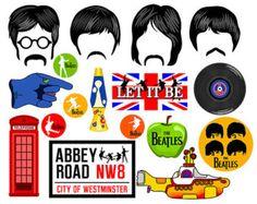 Accessoires de fête cabine de photo numérique Beatles téléchargement télécharger