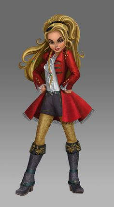 This is CJ, she's from The Descendants little episodes called Wicked World. She looks like a combo of Emma & Hook, not a CS shipper though but even so. Captain Swan, Captain Hook, Aladdin, Descendants Wicked World, Harry Hook, Dibujos Tumblr A Color, Disney Pixar, Disney Characters, The Descendants