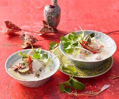 Tom Kha Gai - Hühnersuppe mit Kokosmilch und Champignons