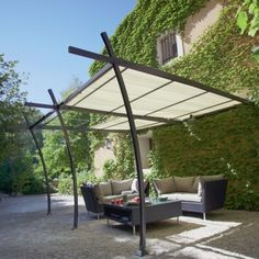 1000 ideas about tonnelle adoss e on pinterest steel porch roof and wood - Jardiland pergola bois ...