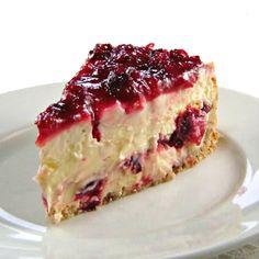 Cranberry Layered Cheesecake !