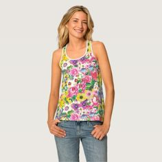 Women's All-Over Print Racerback Tank Top - girl gifts special unique diy gift idea