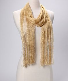 Take a look at this Gold Fringe Scarf by Gold Rush: Jewelry & Accessories on #zulily today!