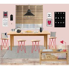 let's have breakfast by chrylou on Polyvore featuring interior, interiors, interior design, home, home decor, interior decorating, Laura Ashley, Toast, BOBBY and KAS Decor, Furniture, Kas, Interior Decorating, Interior, Deco, Home Decor, Office Desk, Interior Design