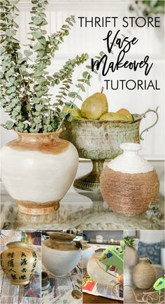 Thrift Store Vase Makeover: How to Update an Old Vase Thrift Store Art, Thrift Store Furniture, Thrift Store Shopping, Thrift Stores, Upcycled Furniture Before And After, Pots, Old Vases, Vase Crafts, Painted Vases