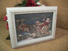 Christmas Wall Hanging Santa Sleigh Reindeer Flying by Holiday365, $21.95