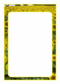 Sunflowers A4 page borders