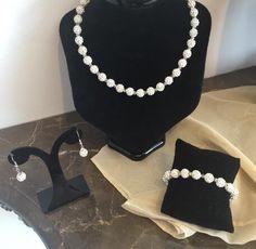 Complete Shamballa Jewellery Set Jewelry Sets, Jewelry Making, Personalised Bauble, Bespoke Jewellery, Swarovski Crystal Beads, Initial Charm, Wedding Jewelry, Handmade Jewelry, Pearls