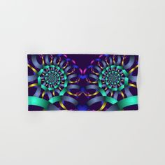 The turquoise spiral Hand & Bath Towel