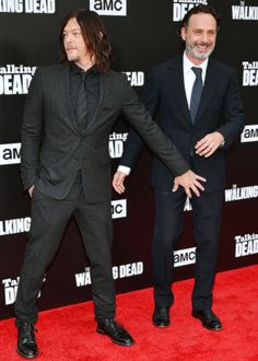 Norman Reedus & Andrew Lincoln at the Talking Dead Premiere Event on October 23, 2016.