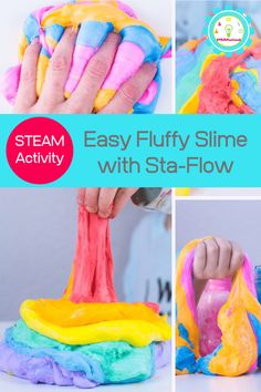 Want to know how to make fluffy slime with sta flo? This fluffy slime with liquid starch recipe will show you how to make fluffy slime without borax and how to make fluffy slime with shaving cream. Slime Without Borax Recipes, Fluffy Slime Without Borax, Cool Slime Recipes, Making Fluffy Slime, Baking Soda Slime, Borax Slime, Slime No Glue, Best Fluffy Slime Recipe, Easy Slime Recipe