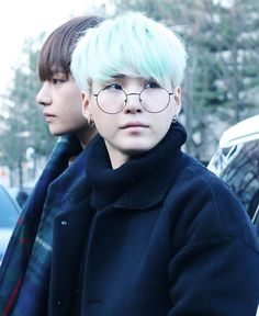 Yoongi and V Is it just me or does Suga look even hotter with these glasses?