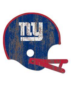 New York Giants Distressed Helmet Cutout
